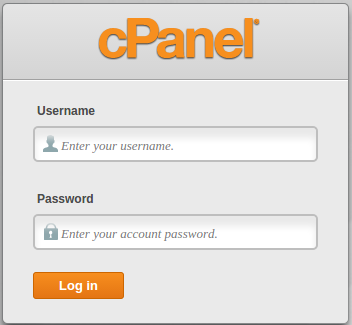 How You will be ready to log into cPanel if---