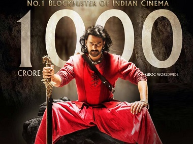 Director SS Rajamouli's film Bahubali 2 becoming first Indian movie to pass Rs 1000 crore Box Office collection