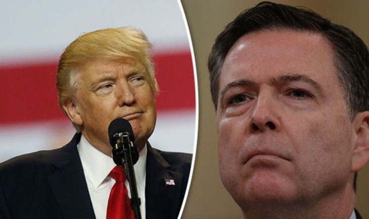 Trump tried to get Comey to shelve the research. Image Source en.mogaznews