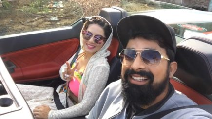 Sunny Leone And Rannvijay Singh From The Sets Of MTV Splitsvilla.The series is based on the American dating truth display, 'Flavor of Love'. Image Source youtube